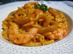 Fideuá de calamares Ana Sevilla con Thermomix Pasta Recipes, Salad Recipes, Diet Recipes, Cooking Recipes, Healthy Recipes, Magimix Cook, Tapas, Spanish Dishes, Gastronomia