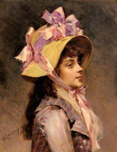 Portraet-einer-Dame-mit-rosafarbenen-Zierbaendern-von-Raimundo-de-Madrazo-y-Garreta-20536.jpg (900×1163)
