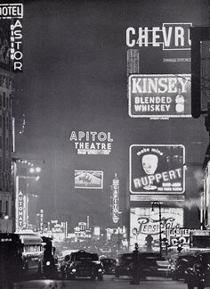 NYC. c.1950, Times Square. I have an old New York poster depicting the streetrail cars of the 1920s-30s. This seems like a great fit along those lines.