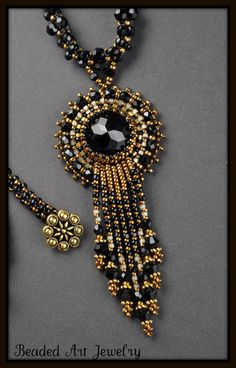New Jewelry Trends: House of Lavande Lanvin Gold & Pave Crystal Hexagon Pendant Necklace Seed Bead Jewelry, Bead Jewellery, Beaded Jewelry, Handmade Jewelry, Beaded Necklace, Seed Beads, Necklaces, Pendant Necklace, Jewellery Display