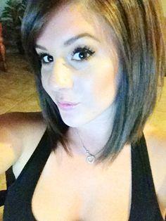 Long a line bob hair cut! I think i want this cut! Love it!!