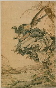 Landscape with Pheasants, Qing dynasty (1644–1911), 19th century  China  Tapestry-woven (kesi) silk