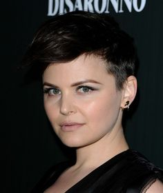 This andro look works great on Ginnifer Goodwin but at certain angles she looks like an elf. I think she's adorable though.