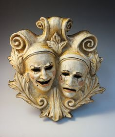 ComedyTragedy Proscenium Plaque by TheArtOfTheMask on Etsy, $695.00