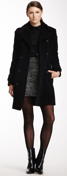Double Breasted Wool Blend Coat - COAT LOVE! @Pascale Lemay De Groof