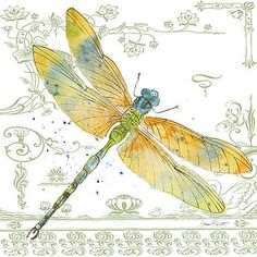Dragonfly Bliss-JP3447 by Jean Plout
