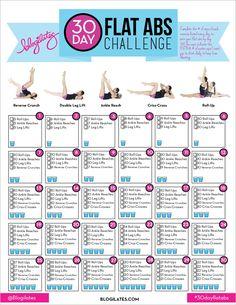 Blogilates 30 day flat ab challenge!  http://www.blogilates.com/blog/2014/12/29/30-day-flat-abs-challenge/