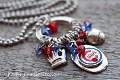Chicago Cubs Necklace Chicago Cubs Jewelry by KathrynsCollection