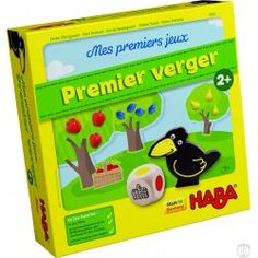 """A specially designed version of HABA's classic Orchard game, this is a great """"first"""" game for ages 2 years and up. Can the little ones harvest the fruit in the orchard before the raven reaches the orchard? Family Board Games, Board Games For Kids, Game Boards, Cooperative Games, Preschool Games, First Game, Imaginative Play, Red Apple, Toddler Toys"""