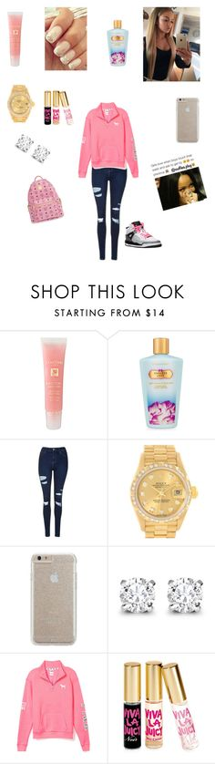 """Untitled #362"" by lailazariel ❤ liked on Polyvore featuring Lancôme, Victoria's Secret, Topshop, Rolex, Case-Mate, Asprey, Victoria's Secret PINK, Juicy Couture and MCM"