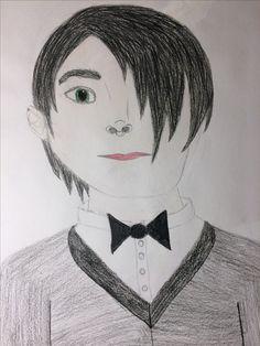 Boy with a Black Bowtie - pencil, color pencil 12/27/16