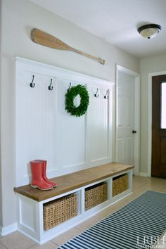 DIY Entryway Mudroom Reveal from Little Red Brick House