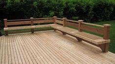 Straight Cedar deck and bench in Bellevue Deck Bench Seating, Deck Building Plans, Cedar Deck, Deck Builders, Backyard Patio Designs, Diy Deck, Deck Railings, Deck Design, Planer