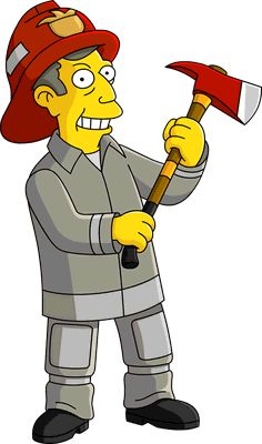 Seymour Skinner, Ned Flanders, Simpsons Characters, Volunteer Fire Department, Green Beret, Prisoners Of War, Babe Ruth, The Simpsons, Firefighters