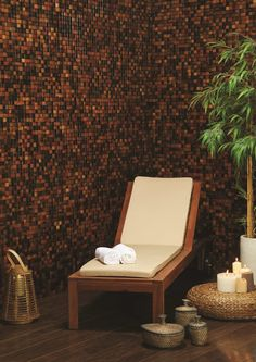 Original Style's Surabaya wooden mosaics are made from recycled fishing boats! Featuring warm amber, russet and cinnamon tones.