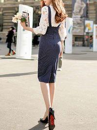 Black Floral A-line Printed/Dyed High Waist Midi Skirt
