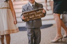 CJ's Off the Square - Southern Garden Wedding, Autumn wedding - sweet and funny ring bearer sing