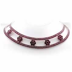 Creator: Pasquale Bruni  Stone(s): Ruby  Metal: White Gold  Source: Dover Jewelry   #Ruby #Gold: White #Necklace