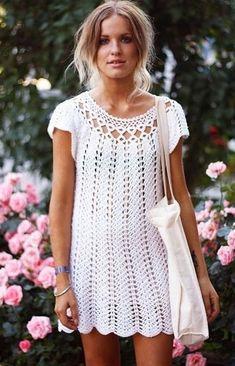 Crochet  dress, crochet beach dress, crochet clothing, women's clothing, organic clothing, crochet f