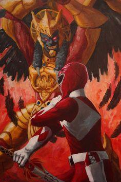 Power Rangers Fan Art: Red Ranger & Goldar (http://lalilulelo2003.deviantart.com/)