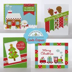 Searchwords: Doodlebug Santa Express Christmas Cards by Mendi Yoshikawa