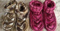 Receitas de trico fáceis de fazer e com passo a passo e video explicativo 36, Slippers, Knitting, Crochet, Winter, Accessories, Fashion, How To Knit, Crochet Slippers