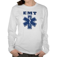An EMT Star of Life Long Sleeve T-Shirts
