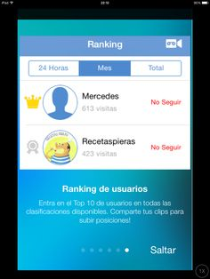 Ranking de usuarios