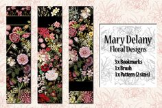FREE - Floral bookmarks by ~auRoraBor on deviantART #free #digital #bookmark
