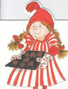 Virpi Pekkala Christmas Balls, Xmas, Baumgarten, Love Valentines, Whimsical Art, Gnomes, Illustrators, Decoupage, Diy And Crafts