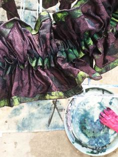 Shibori Dyeing Technique: How-to: by Bligh St. Bistro: Kyoto Dreaming Japanese Dinner