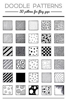 Pic Candle | 30 Doodle Patterns. #doodles #doodling                                                                                                                                                                                 More