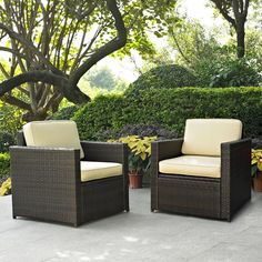 Palm Harbor 2-Piece Outdoor Wicker Seating Set - Bed Bath & Beyond $440