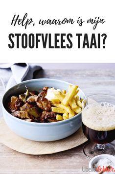 No more tough stew! Healthy Crockpot Recipes, Slow Cooker Recipes, Beef Recipes, Cooking Recipes, Cauliflower Soup, Weird Food, Goulash, Stew, Dinner Recipes