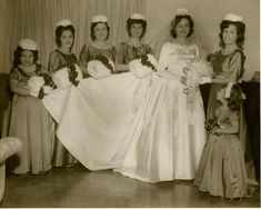 Darleen wore her wedding dress on her special day, in February 1964.