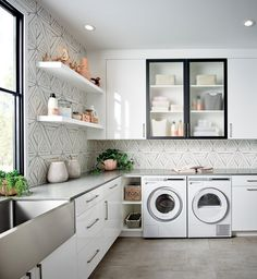 5 Organised laundry designs to inspire you - The Organised Housewife Pantry Laundry, Home, Organised Housewife, Rehau, Kitchen Design, Laundry Design, Laundry Room, Living Room Designs, Room Design
