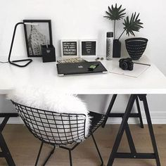 42 Amazing Home Office Ideas & Design - Zimmer ideen Tumblr Rooms, Diy Room Decor Tumblr, Indie Room Decor, Room Goals, Aesthetic Rooms, Aesthetic Black, Home And Deco, Dream Rooms, House Rooms