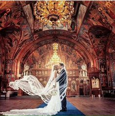Bride and Groom in an Orthodox Christian church