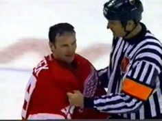 Red Wings vs. Avalanche - 2002 fight