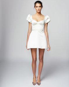27 Amazing Short Wedding Dresses For Petite Brides ❤ short wedding dresses simple with cap sleeves pallascouture #weddingforward #wedding #bride