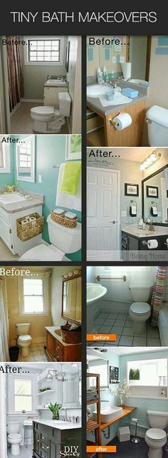 Urban Garden Design Tiny Bath Makeovers Lots of Tips Tutorials and Before & Afters to makeover a small bathroom! Garden Design Tiny Bath Makeovers Lots of Tips Tutorials and Before & Afters to makeover a small bathroom! Home Renovation, Home Remodeling, Bathroom Remodeling, Remodel Bathroom, Basement Bathroom, Bathroom Closet, Shower Remodel, Bathroom Renos, Bathroom Flooring