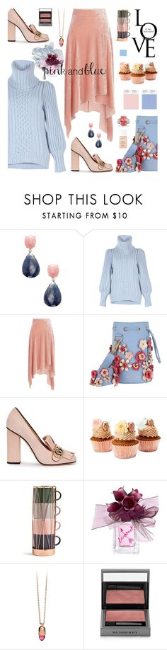 """""""Pink And blue"""" by hamaly ❤ liked on Polyvore featuring Rina Limor, Temperley London, Peter Pilotto, Marina Hoermanseder, Gucci, Vera Wang, Burberry, Christian Dior, outfit and ootd"""