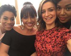 Kelly McCreary (Maggie Pierce), Sara Ramirez (Callie Torres), Sarah Drew (April Kepner) & Jerrika Hinton (Stephanie Edwards). In New York for Grey's Anatomy publicity.