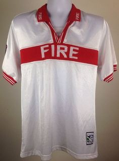 Vintage Chicago Fire Jersey Score First MLS Made in USA Size Large   eBay