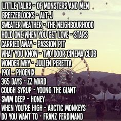 Playlist: Indie Music Festival