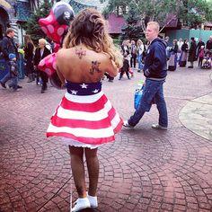 """@aizadolmatovaaa's photo: """"Я одна такая дура,полуголая танцую в крутом платье в центре Диснейленда! @iswagshop ) платье я оставила себе!!!!"""""""