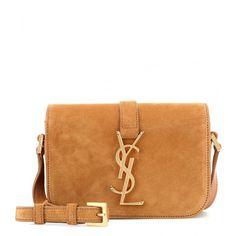 84800b2bd05a0 Saint Laurent Monogram Université Small Suede Shoulder Bag (1