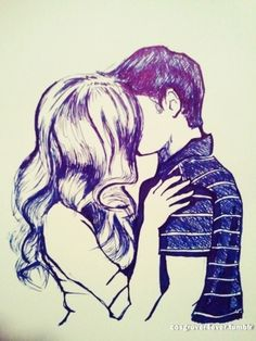 My drawing of us....I love you Jenette!