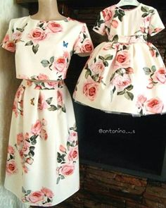 New baby fashion clothes mother daughters Ideas Mommy Daughter Dresses, Mother Daughter Fashion, Mother Daughter Matching Outfits, Mommy And Me Outfits, Family Outfits, Mom Daughter, Little Girl Dresses, Kids Outfits, Girls Dresses