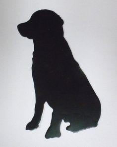 "6"" Sitting Dog Lab Labrador Metal Wall Art Ornament Magnet Stencil Wind Chime | eBay"